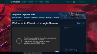 Video - Welcome to Planet Urf - Login Screen | League of Legends ...
