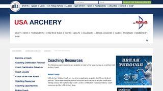 USA Archery - Coaching Resources