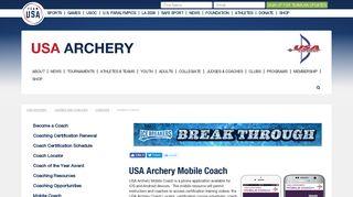 USA Archery Mobile Coach - Team USA