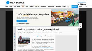 Verizon password pains go unexplained - USA Today