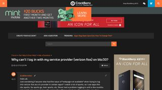 Why can't I log in with my service provider (verizon fios) on ...