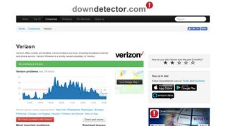 Verizon outage or service down? Current problems and outages ...