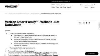 Verizon Smart Family - Website - Set Data Limits | Verizon Wireless