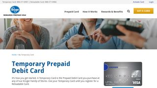 Temporary Visa Card | Kroger REWARDS Prepaid Visa
