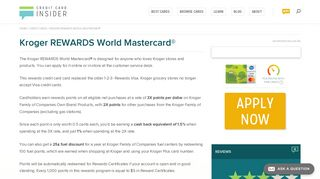 Kroger REWARDS World Mastercard® - Credit Card Insider