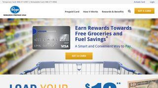 Prepaid Cards with Rewards - Kroger REWARDS Prepaid Visa