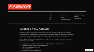 Creating a VTAC Account – Pathways - MSJ Pathways