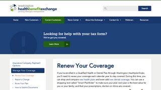 Renew Your Coverage | Washington Health Benefit Exchange ...