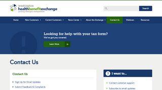 Contact Us | Washington Health Benefit Exchange - Washington ...