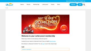 Play now - Upgrade your membership for free   Lotterywest