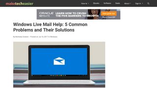 Windows Live Mail Help: 5 Common Problems and Their Solutions ...