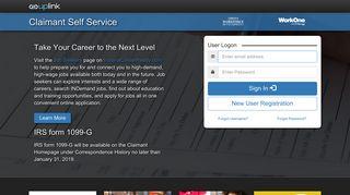 Claimant Self Service Logon - DWD