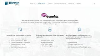my-benefits - Johnston Group