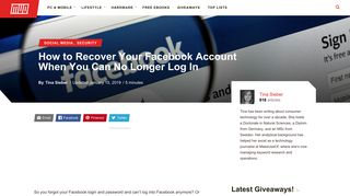 How to Recover Your Facebook Account When You Can No Longer ...
