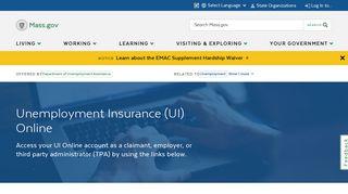 Unemployment Insurance (UI) Online | Mass.gov