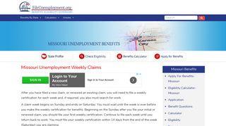 Missouri Unemployment Weekly Claims - FileUnemployment.org