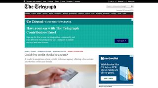 Could free credit checks be a scam? - Telegraph