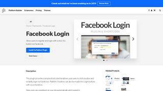 Facebook Login - PageLines