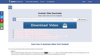Download Facebook Videos - Facebook Video Downloader