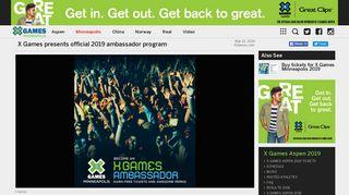X Games Aspen 2019 Ambassador Program