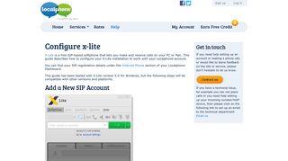 Configure x-lite | Localphone