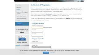 Registration | XactAnalysis SP - Xactware