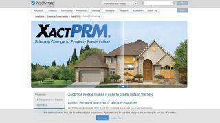 XactPRM mobile Estimating   XactPRM - Xactware
