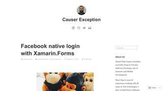 Facebook native login with Xamarin.Forms – Causer Exception
