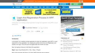 Login And Registration Process In WPF application - C# Corner