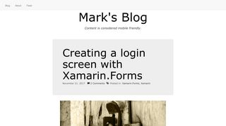 Creating a login screen with Xamarin.Forms - Mark's Blog