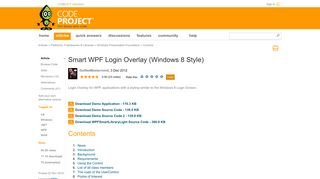 Smart WPF Login Overlay (Windows 8 Style) - CodeProject