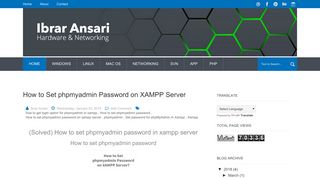 How to Set phpmyadmin Password on XAMPP Server | COMPUTER ...