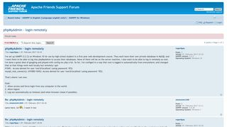 Apache Friends Support Forum • View topic - phpMyAdmin - login ...
