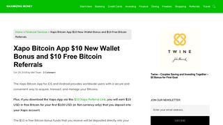 Xapo Bitcoin App $10 New Wallet Bonus and $10 Free Bitcoin Referrals
