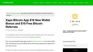 Xapo Bitcoin App $10 New Wallet Bonus and $10 Free Bitcoin Referrals