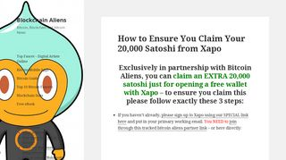 How to Ensure You Claim Your 20,000 Satoshi from Xapo   Blockchain ...