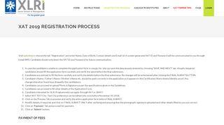 Registration Procedure   XAT 2019