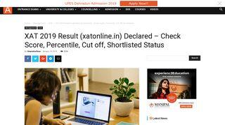 XAT 2019 Result (xatonline.in) Declared - Check Score, Percentile ...