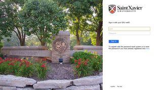 Sign In - Saint Xavier University