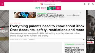 Everything parents need to know about Xbox One: Accounts, safety ...