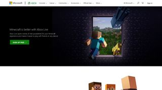 Minecraft Sign Up | Xbox