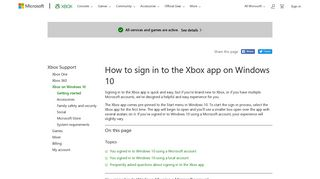 How to Sign In to the Xbox App on Windows 10 - Xbox Support