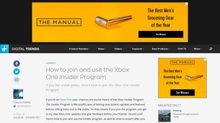 How to Join and Use the Xbox One Insider Program | Digital Trends