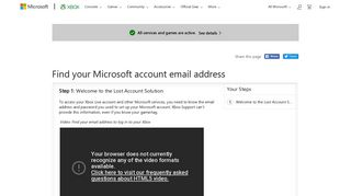 Forgot the email address you use to log in to your Xbox? Learn how to ...