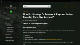 How Do I Change Or Remove A Payment Option From My Xbox Live ...