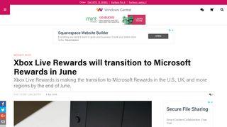 Xbox Live Rewards will transition to Microsoft Rewards in June ...