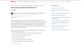 How to get a free trial of Xbox Live - Quora
