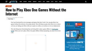 How to Play Xbox One Games Without the Internet - Gotta Be Mobile