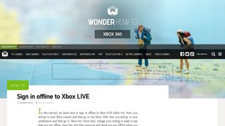 How to Sign in offline to Xbox LIVE « Xbox 360 :: WonderHowTo