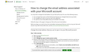 How to Change Microsoft Account Email Address - Xbox Support